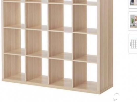 Ikea Kallax Shelf- 16 inserts- 147x147cm