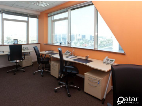 9 desk office available now! call now