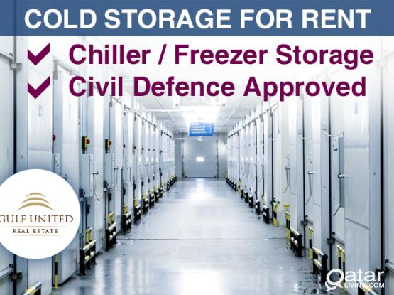 Cold Stores for rent, Chiller or Freezer, including utilities, shelves -Industrial area