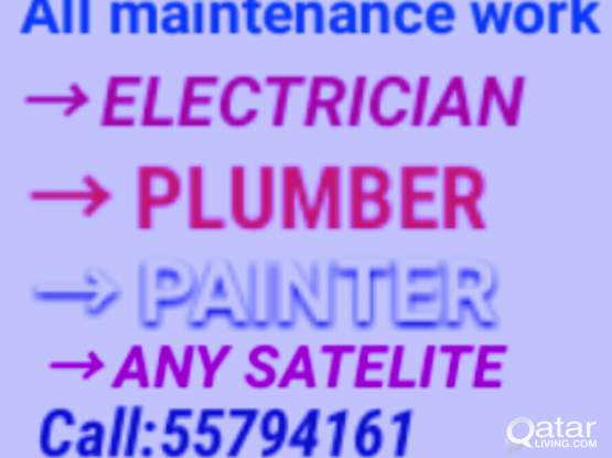 Electric plumbing painting satelite work /55794161