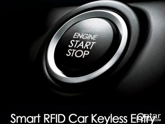 Keyless engine start/stop button