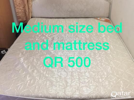 King size Beds, mattress, cabinet, window cotton & handle, microwave