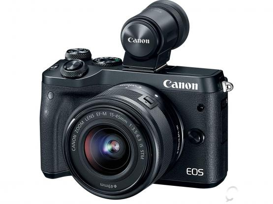 New Canon EOS M6 +18-150mm lens+Electronic Viewfinder+Adapter
