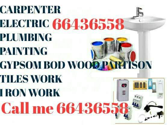 66436558 Painting carpenter gypsumbod glass partition  plumbing A Z  maintenance work