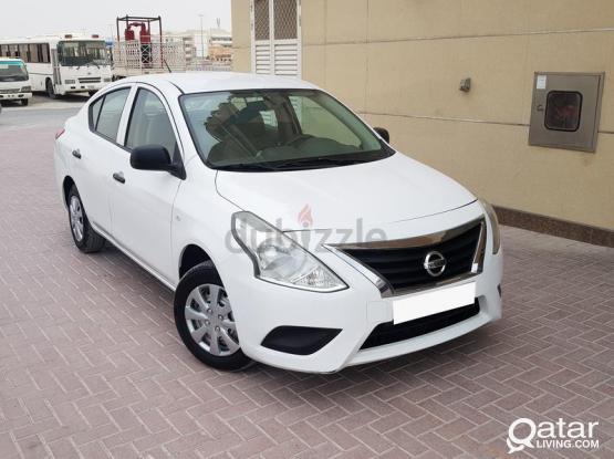 Nissan sunny car 2019 model  for rent