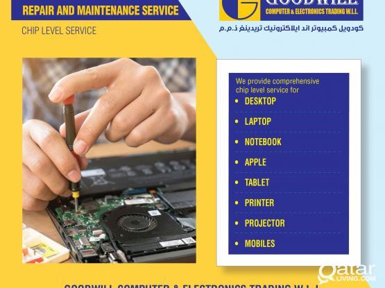 Repair & service laptop, desktop, printer, projector, apple(Mac), notebook, tablets, mobile