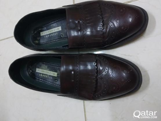 2 Pairs of Original Leather Shoes,USA made, Leather Sole