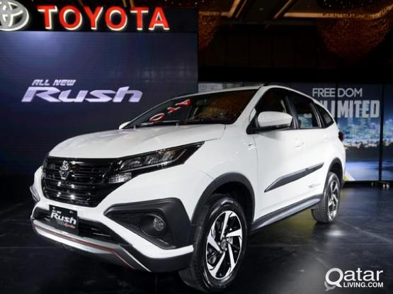 GRAND OFFER ON NEW BRAND (0 KM) TOYOTA RUSH 2019 MODEL IN 2800/MONTH only in country rent a car DON'T MISS THIS OFFER AGAIN AND AGAIN FOR MORE INF:3111 7404
