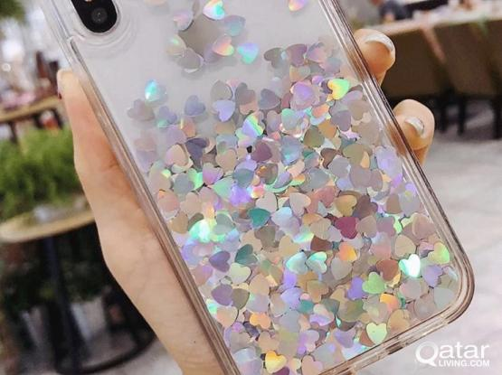 iPhone XS Max covers-With hearts at the back