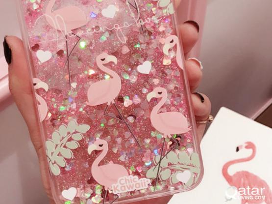 New iPhone 8/8plus/7/7plus/6s/6plus Phone Case Cartoon Rainbow Unicorn Quicksand Pattern Phone Case