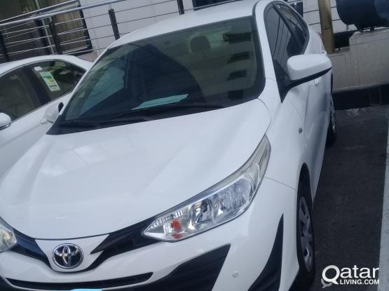 Special offer 2019 model  YARIS SEDAN CAR for rent in 1600qr month call me:31117404
