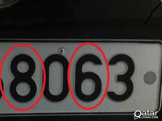 Car Plate with number 786