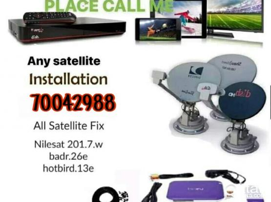 I do any satellite dish tv work & Dish, receiver sell. your need installation, CCTV , works , just call & what's app me 70042988