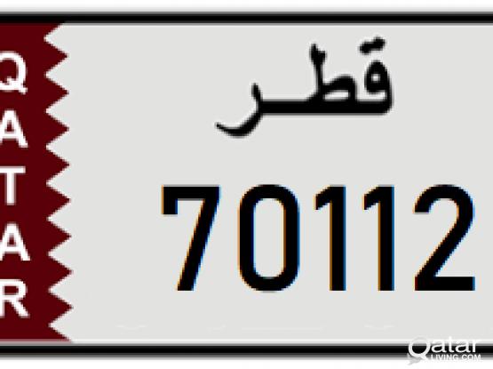 Car Plate 70112