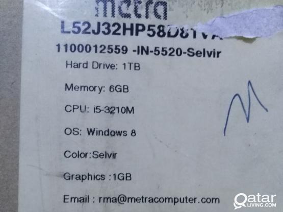 New Dell i5 inspiron 5520 8gb ram 1tb