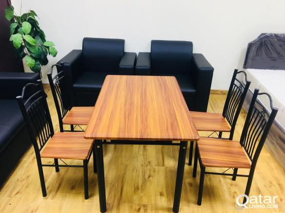 DINING SET (1+4) BRAND NEW CONTACT:77850533
