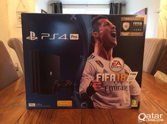 PS4 Pro 1TB like new plus 2 games for sale