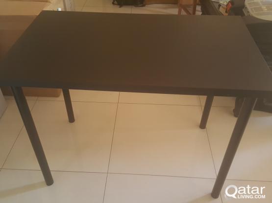 IKEA BLACK TABLE and UTILITY CUPBOARD