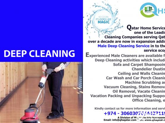 Male Deep Cleaning Service - Call us 30603076 or 44271197