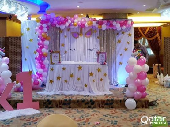 Birthday parties and other events