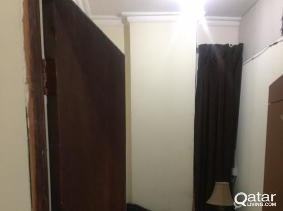 Closed and fully furnished Partition- All in rent with parking for KABAYAN ONLY - AL Mansoura