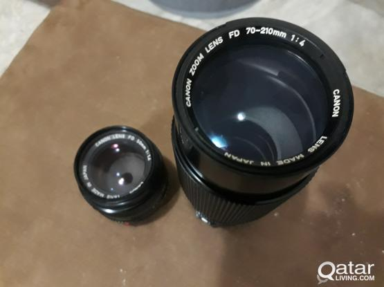 canon lens 50mm f/1.4...70-210 f/4..