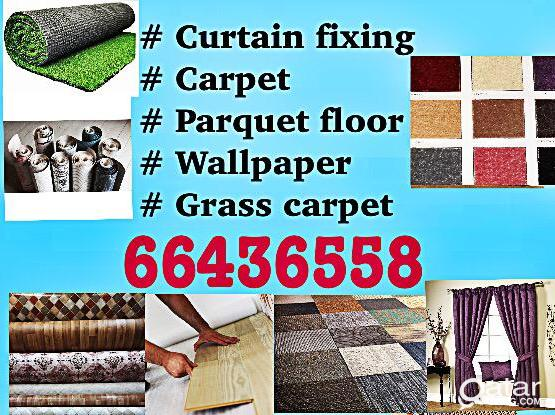 Curtains wallpaper carpat parquet floor sale & fixing  66436558