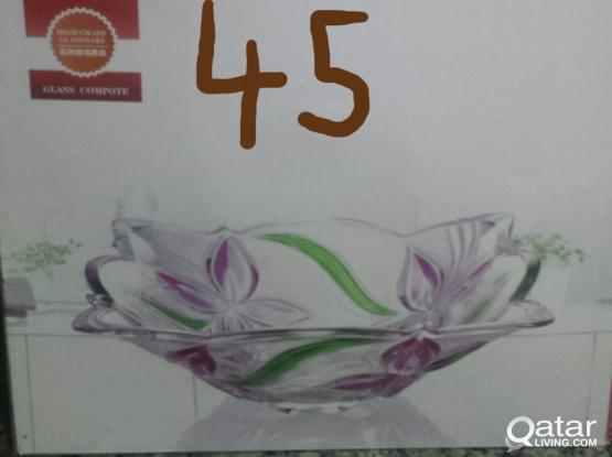 Glass bowl new Box piece and Good quality