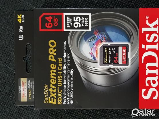 Extreme Pro 64GB SD Card for DSLR