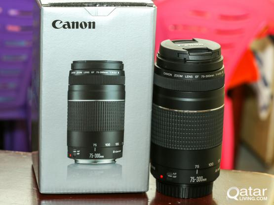 Canon 75_300 zoom lens new with box