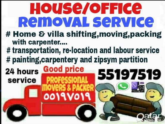 house shifting & moving,packing & painting  55197519
