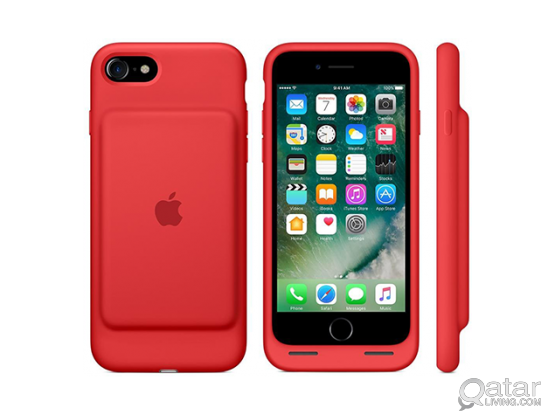 iPhone 7 Smart Battery Case - Red - White - (BRAND NEW NEVER USED)