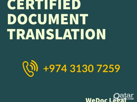Certified Documents Translation