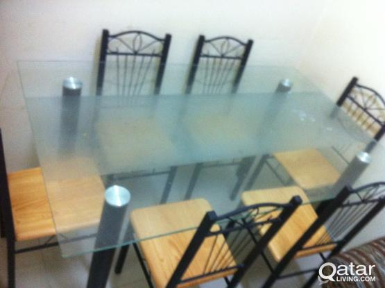 DAINING TABLE Glass Type