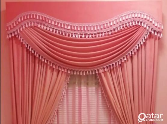 We sell curtain,wall paper,carpet,furniture. Please call 55930626
