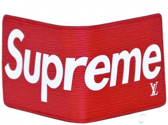 Louis Vuitton Supreme Red Wallet