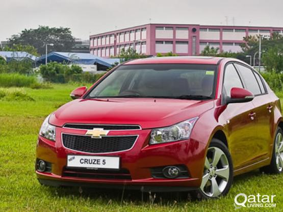 CHEVORLET CRUZ 2017 MODEL AVAILABLE FOR RENT ONLY 1700 QAR  FOR CONTRACT  50399150