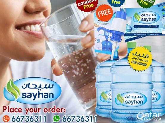 sayhan water offering more free bottles and more promotions now
