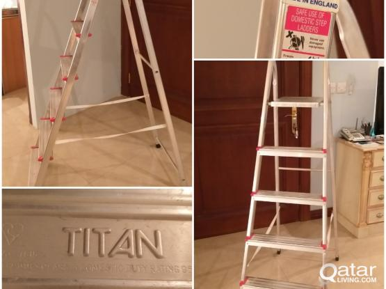 Step Ladder Aluminum made in Uk home used