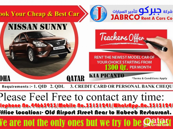 Best Car For Best Service Book Now.!! Call Us Now:- 44663933 & 33131241