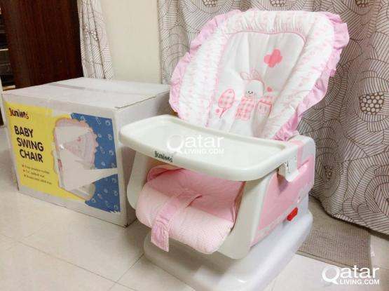JUNIORS Apricot Baby Swing Bed (Brand new with box)