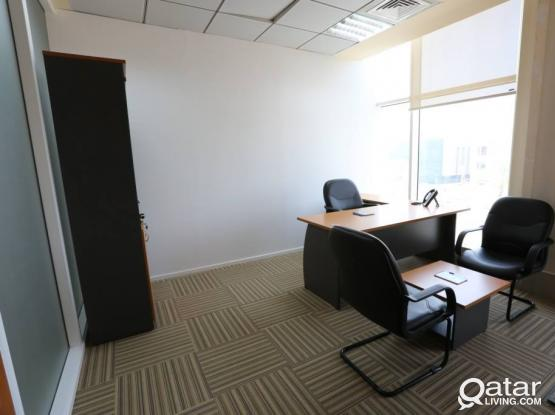 Office Space for Rent. Fully Furnished + Trade License
