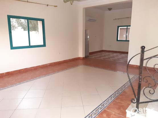 Big frond yard stand alone villa 3 + 1 maid room , 2 year contract