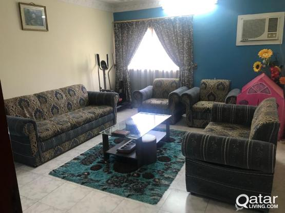 Spacious 2 bhk flly furnished villa part for rent at Hilal