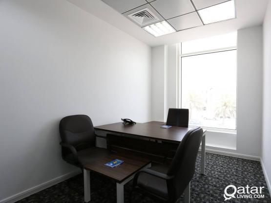 12 SQM Office Space - Furnished Office Space+Trade License.
