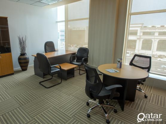 Fully Furnished Serviced Office Space+Trade License+1 Month Free Rent