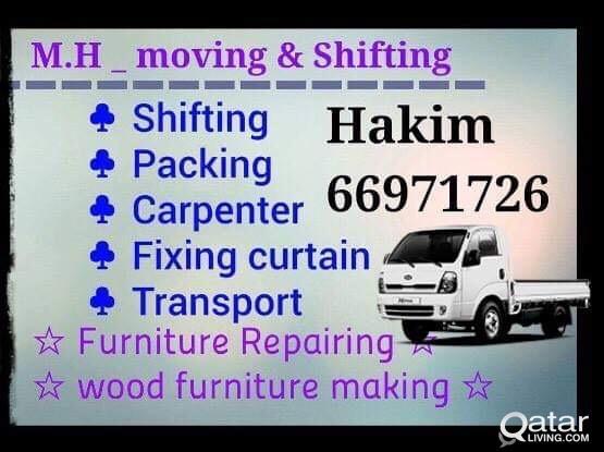 Shifting,,carpenter,,fixing curtain,,Transport- 66971726