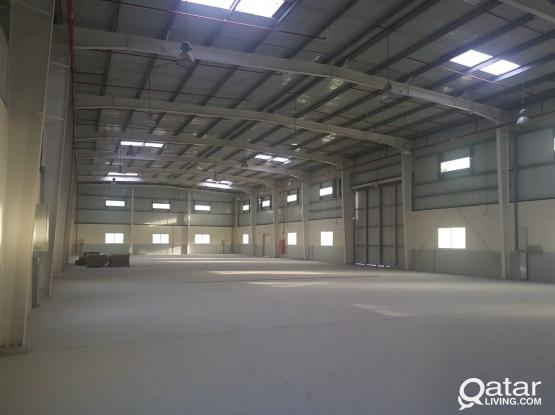 WAREHOUSE for RENT at Street No 50 with office spaces & Electricity and all Approvals.
