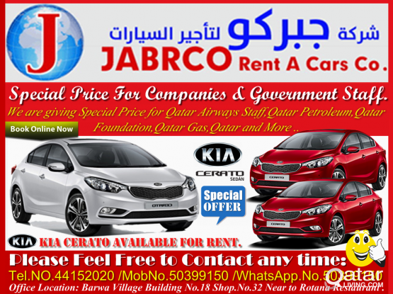 Sedan ,Hatchback & SUV Vehicles  Available For Rent!!. Contact Us .50399150/44152020