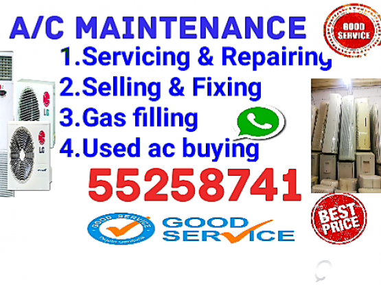 A/C Sell and fixing, servicing, repairing etc.  Call : 55258741.